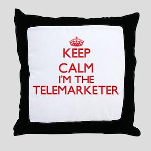 Keep calm I'm the Telemarketer Throw Pillow