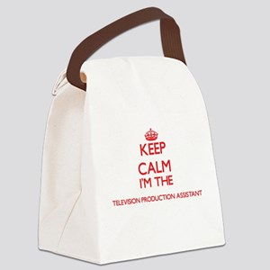 Keep calm I'm the Television Prod Canvas Lunch Bag