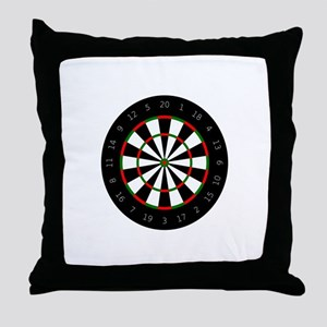 LARGE DARTBOARD Throw Pillow