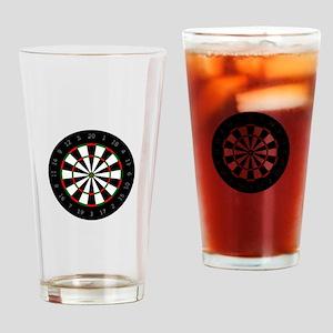 LARGE DARTBOARD Drinking Glass
