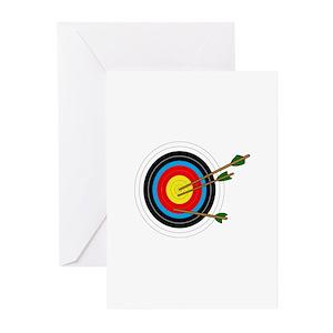 Bullseye Greeting Cards Cafepress