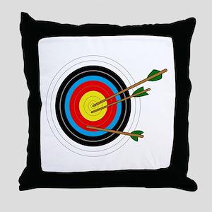 ARCHERY TARGET Throw Pillow