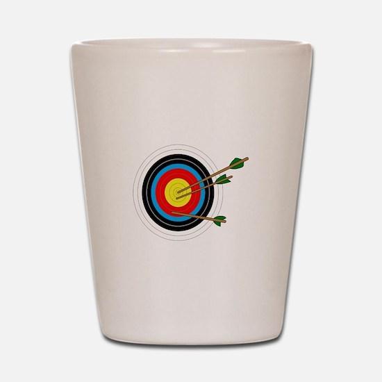 ARCHERY TARGET Shot Glass