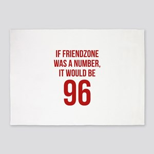 If Friendzone Was A Number 5'x7'Area Rug