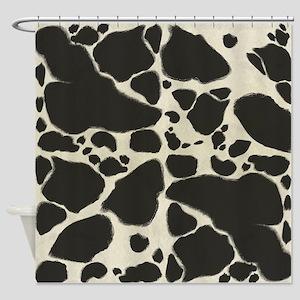 Faux Holstein Cow Cowhide Pattern Shower Curtain