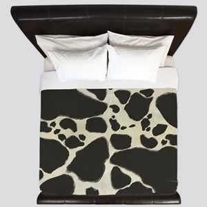Faux Holstein Cow Cowhide Pattern King Duvet