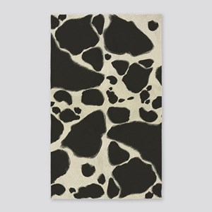 Faux Holstein Cow Cowhide Pattern Area Rug