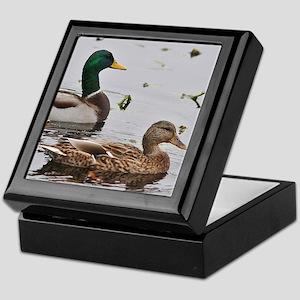 Pair of Mallard Ducks Keepsake Box