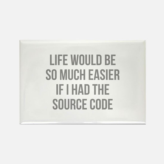 Life Source Code Rectangle Magnet