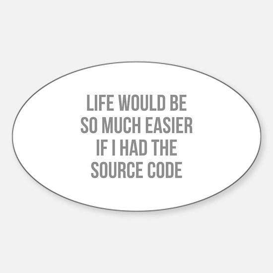 Life Source Code Sticker (Oval)