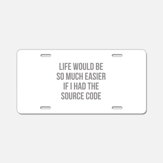 Life Source Code Aluminum License Plate