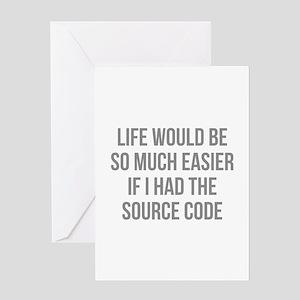 Life Source Code Greeting Card
