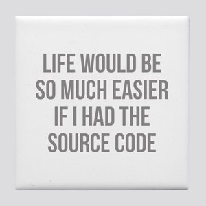 Life Source Code Tile Coaster