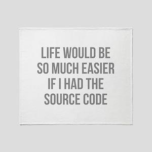 Life Source Code Stadium Blanket