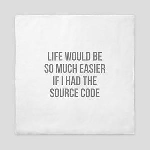 Life Source Code Queen Duvet