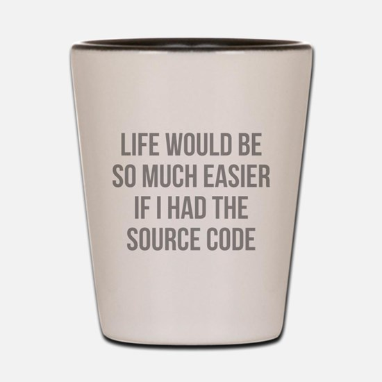 Life Source Code Shot Glass
