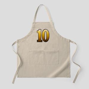 Big Gold Number 10 Apron