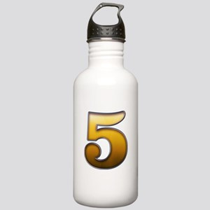 Big Gold Number 5 Stainless Water Bottle 1.0L