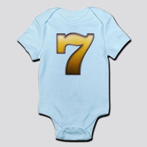 Big Gold Number 7 Body Suit