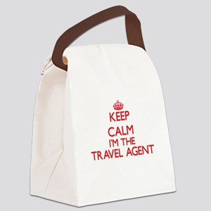 Keep calm I'm the Travel Agent Canvas Lunch Bag