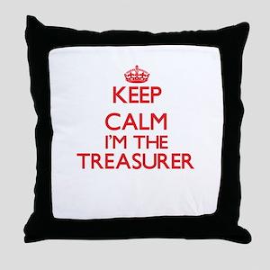 Keep calm I'm the Treasurer Throw Pillow