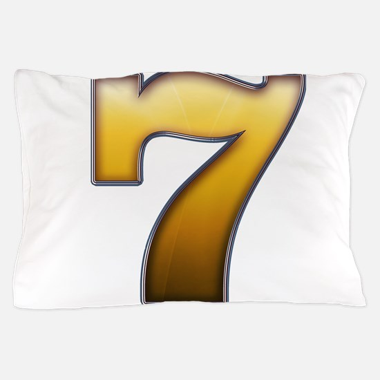 Big Gold Number 7 Pillow Case