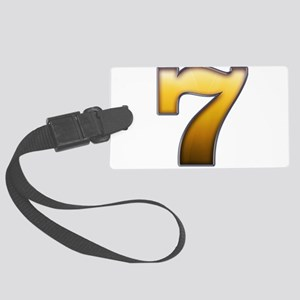 Big Gold Number 7 Large Luggage Tag
