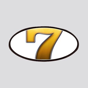Big Gold Number 7 Patches
