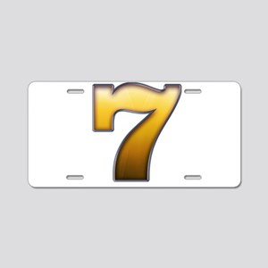 Big Gold Number 7 Aluminum License Plate