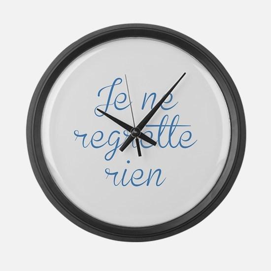 Je Ne Regrette Rien Large Wall Clock