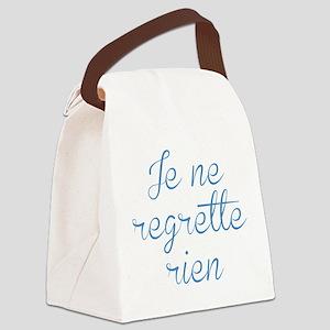 Je Ne Regrette Rien Canvas Lunch Bag