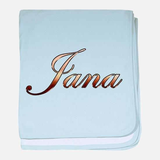 Gold Jana baby blanket