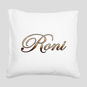 Gold Roni Square Canvas Pillow