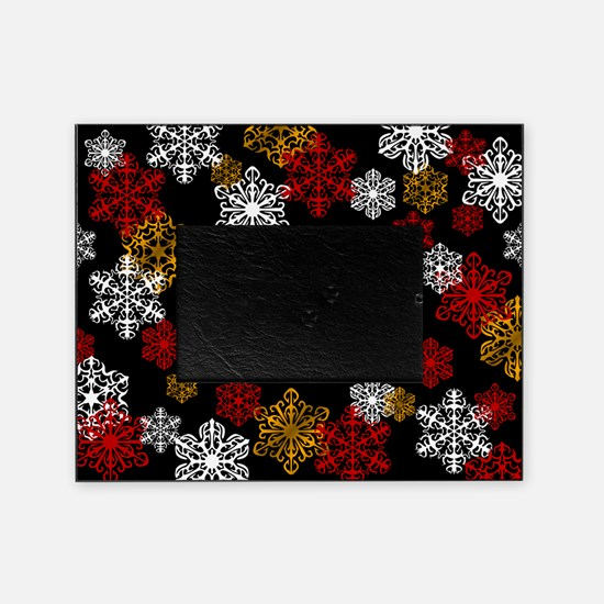 Winter Holiday Snowflake Photo Picture Frame
