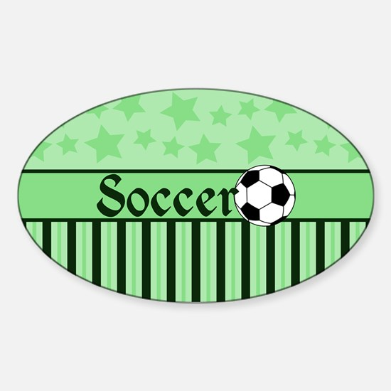 Soccer Star grn Decal