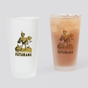 Futurama Bender and Fry Drinking Glass