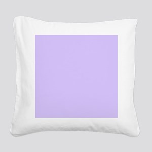 girly modern lilac purple  Square Canvas Pillow