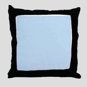 modern chic light blue  Throw Pillow