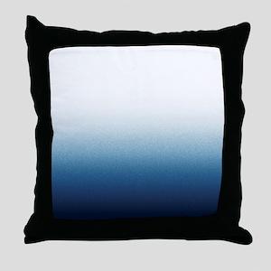 Indigo blue Ombre Throw Pillow