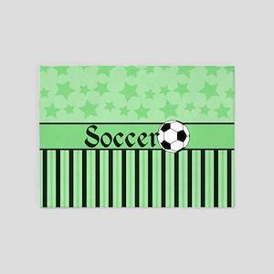 Soccer Star grn 5'x7'Area Rug
