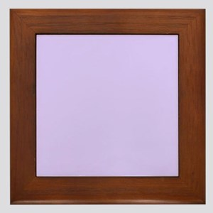 girly modern lilac purple Framed Tile