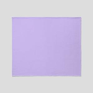 girly modern lilac purple Throw Blanket