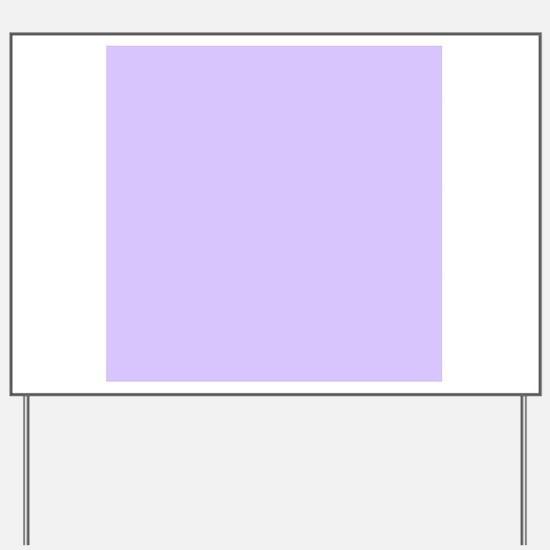girly modern lilac purple Yard Sign