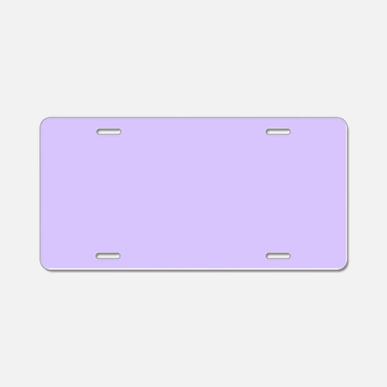 girly modern lilac purple Aluminum License Plate