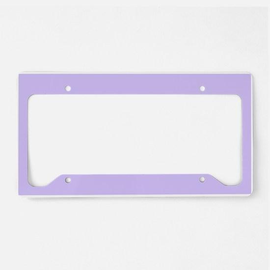 girly modern lilac purple License Plate Holder