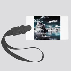 Now Is The Winter Large Luggage Tag
