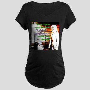 Rank Confusion Maternity Dark T-Shirt