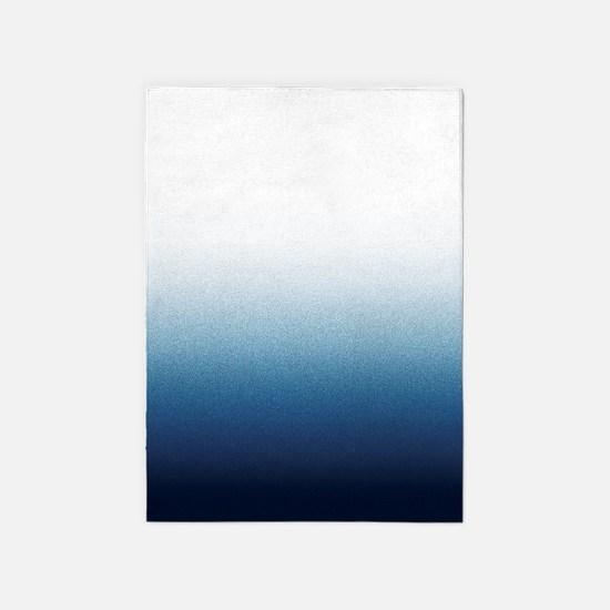 Beautiful Indigo Blue Ombre 5'x7'Area Rug