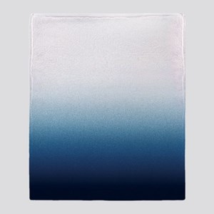 Beautiful Indigo Blue Ombre Throw Blanket