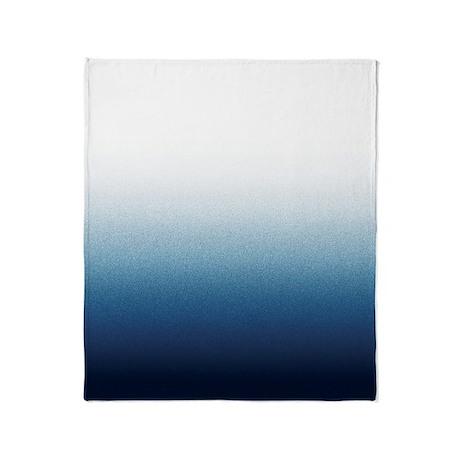 Beautiful Indigo Blue Ombre Throw Blanket
